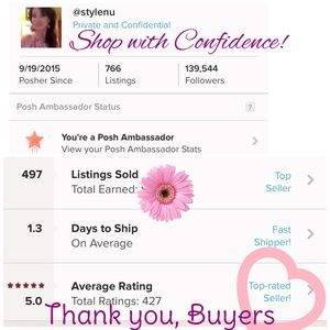 Other - Thank you to my Wonderful Buyers!